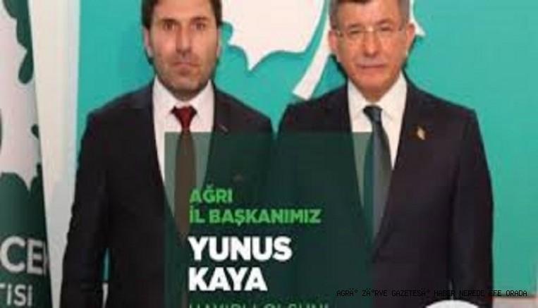 GELECEK PARTİSİ AĞRI İL BAŞKANIYUNUS KAYA'DAN BASIN AÇKLAMASI