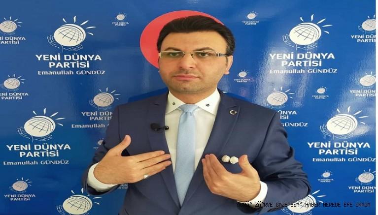 Yeni Dünya Partisi Lideri Emanullah GÜNDÜZ basın açıklaması